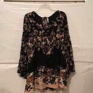 Free people tunic with bell sleeves